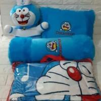 Paket Bantal Guling Boneka Doraemon SNI