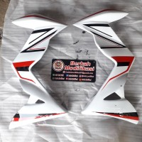 half fairing / sayap new cb150r putih motif