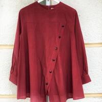 nalini-MIRAH MAROON Lurik tunik atasan blouse kemeja gamis wanita