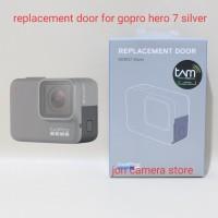 gopro replacement door hero 7 silver ori side door/tutup usb