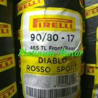 Ban Pirelli Tubeless Ukuran 90/80-17 Diablo Rosso Sport