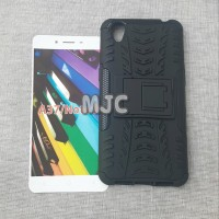 Dazzle Oppo A37 Rugged Armor Standing Case Anti Banting