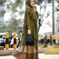 Baju Gamis Wanita Terbaru Set Hijab Khimar Pesta Maxi Dress New