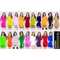 Bahan Jersey Mini Dress Olla HC0060 - Marun