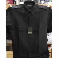 Baju Seragam Kemeja Pilot Safari Pangkat PDH Hitam Pendek XXL XXXL 4XL