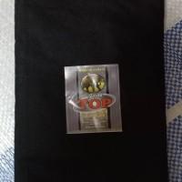 sarung anak soleh hitam polos tanpa tumpal