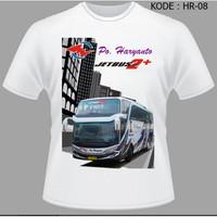Kaos Bis Po Haryanto, Baju Bus, Bismani busmania bus po haryanto HR-08