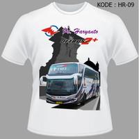 Kaos Bis Po Haryanto, Baju Bus, Bismani busmania bus po haryanto HR-9