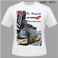 Kaos Bis Po Haryanto, Baju Bus, Bismani busmania bus po haryanto HR-07