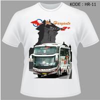 Kaos Bis Po Haryanto, Baju Bus, Bismani busmania bus po haryanto HR-11