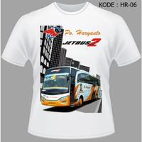 Kaos Bis Po Haryanto, Baju Bus Bismania busmania bus po haryanto HR-06