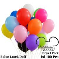 Balon Latex Doff 1 PACK ISI 100 Pcs / Balon Per Pack / Balon Karet
