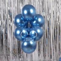Balon Latex Chrome Biru / Balon Metalik Chrome / Metalic Ballon Chrome