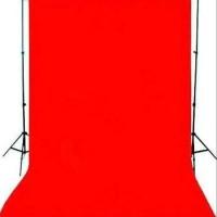 Background Kain Foto Merah Backdrop Red Layar Kaos Muslin