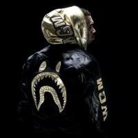 Baju Pria Chris Brown Bape Bomber Jacket (Tanpa Kupluk)