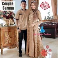 Baju Muslim Coupel Seruan Brukat Pasangan Pria Wanita Baju Copel