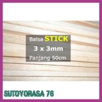Murah Stick Kayu Balsa 3Mm 3Mm X 50Cm