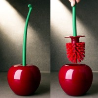 Pel Merah | sikat kloset wc tongkat toilet panjang lucu model apel