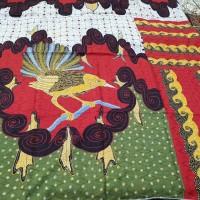kain batik tulis halusan motif. ayam bahan sutera atbm baron pola