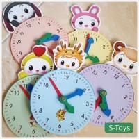 Mainan Edukasi Jam untuk Anak Anak - Animal Clock for Kids
