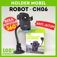 Holder HP Mobil Car Phone Holder Handphone Holder Mobil Robot RT-CH06 - Hitam