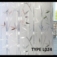 stiker /stiker kaca Motif Bambu Glitter lebar 120 cm