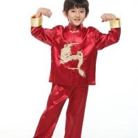 BARANG BERMUTU TOP BAJU ANAK SETELAN | CHEONGSAM BOY ANAK CHINA
