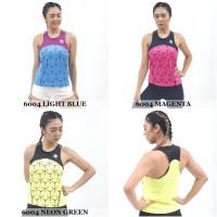 Tank Top Olahraga Wanita Mills 6004 (Baju Singlet Running Gym Fitness) - Neon Green, S