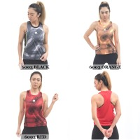 Tank Top Olahraga Wanita Mills 6003 (Baju Singlet Gym Fitness Running) - Black, S