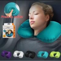 Bantal Leher - Travel Neck Pillow - Gampang Dibawa