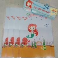 plastik snack mermaid / kantong snack mermaid / bingkisan ultah custom
