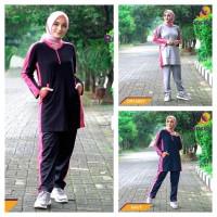 Baju stelan olahraga muslimah panjang senam jogging Jovanca by ROCELLA