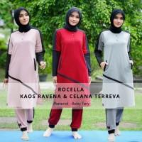 Baju stelan olahraga muslimah syari senam jogging Ravena by ROCELLA