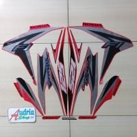 Sticker Striping Motor Honda Vario CBS ISS 125 2013 Merah