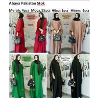 GAMIS Baju Muslim Wanita Abaya Pakistan Mocca / Gamis Wanita Murah