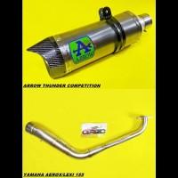 Knalpot Arrow Thunder Competition Titanium Fullsystem Aerox Lexi 155