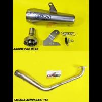 Knalpot Arrow Pro Race Titanium Fullsystem Drake Yamaha Aerox Lexi 155
