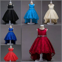 Dress anak sz 5-10th baju pesta anak cewek gaun pesta anak bruklat