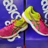 Sepatu Badminton Asics Pink - Hijau
