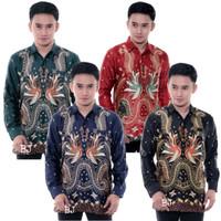 Baju Batik Pria Semi Sutra Lengan Panjang Furing 007