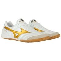 Sepatu futsal mizuno morelia in white gold original new 2020 Murah