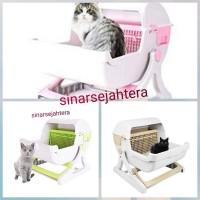 Toilet Kucing Semi Otomatis Cat Litter Box Tray Semi Automatic