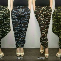 Celana Batik Wanita celana jogger/joger pants bahan strech loreng army