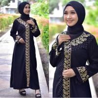 abaya/gamis/jubah/dress bordir azka 2