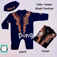 Jumpsuit Jumper Koko Bayi Bordir Baju Koko Bayi Black Panther