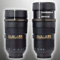 Mug Bisa Naik Turun Nikon Cup Gelas Termos Lensa Kamera Botol ZoomB271