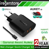 Aukey Charger Handphone Smartphone HP Quick Charger 2 Ports 36W QC 3.0