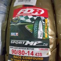 Ban Matic Softcompon Ukuran 90/80-14 Sport MP 76, Ban Merk FDR