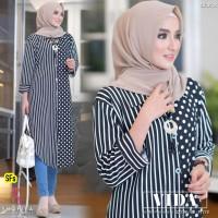 Baju Atasan Wanita Blouse Muslim Vida Tunik Ori Shofiya