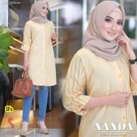 Baju Atasan Wanita Blouse Muslim Nanda Tunik Ori Shofiya